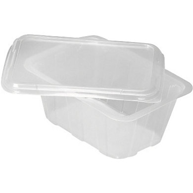 Couvercle transparent pour barquette PP noire ou blanche 145X105X11mm