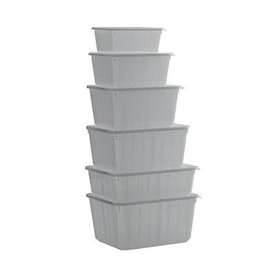 Boîte PP à couvercle indépendant CARTYBOX® 119x103x54mm