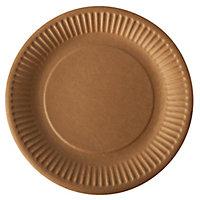 Assiette en carton kraft brun