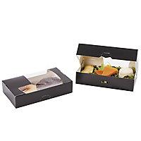 Boîte carton noire avec fenêtre