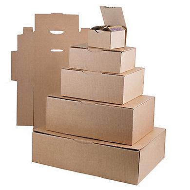 Boîte postale carton brune