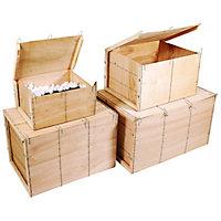 Caisse bois contreplaqué Mussy® - Paquet de 4