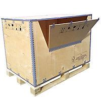 Caisse bois contreplaqué avec abattant