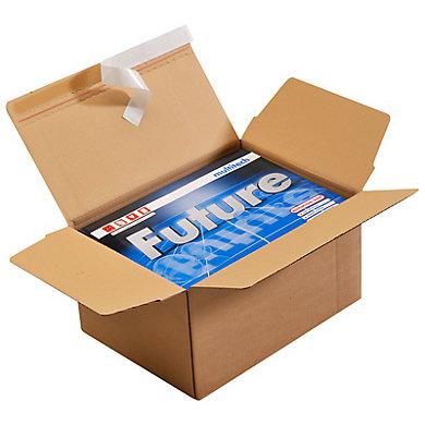Caisse carton à fond automatique et bande adhésive