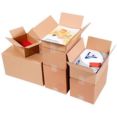 Caisse carton format imprimerie simple cannelure