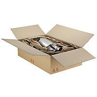 Caisse carton palettisable A - Norme ECT - Longueur : de 1 000 à 1 200 mm