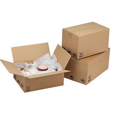 Caisse carton simple cannelure
