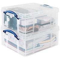 Caisse de rangement polyvalente en plastique