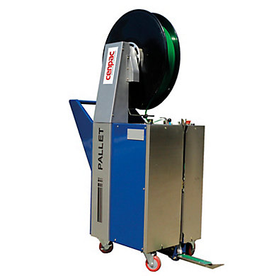 Cercleuse semi-automatique de palettes avec aiguille rétractable et motorisée
