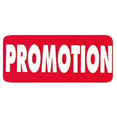 Étiquette adhésive promotionnelle (photo)