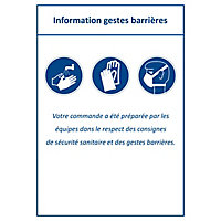 Étiquette gestes barrières