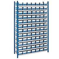 PACK - Rayonnage avec bacs tiroirs à compartiments
