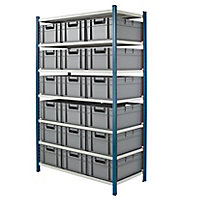 PACK - Stockage rayonnage avec bacs norme Europe
