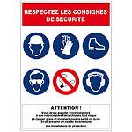 Panneau de consignes de sécurité