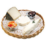 Plateau fromages imitation rotin