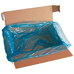 Sac plastique fond de caisse bleu