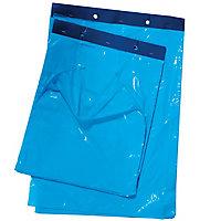 Sac plastique plat standard liassé à ouverture décalée 20 et 28 µ