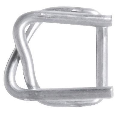 Boucle métal galvanisé pour feuillard 19mm (photo)